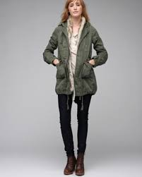 Free People Parka Golden Quills Military Parka On The Hunt