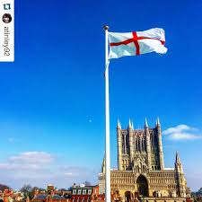 English Flag The English Flag For An English Cathedral Repost Visit Lincoln