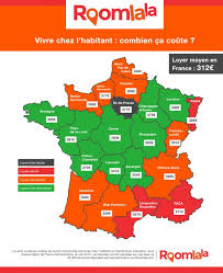 chambre chez l habitant ile de infographie 2015 carte des loyers moyens par région pour une