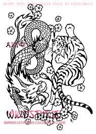tiger and dragon asian yinyang by wildspiritwolf on deviantart