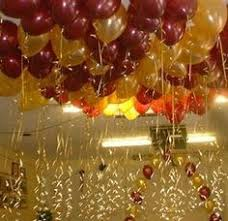 Elegant Balloon Centerpieces by Elegant Balloon Centerpiece In Gold Burgundy And Silver Great