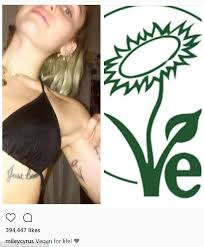 miley cyrus gets new tattoo to celebrate being vegan daily mail