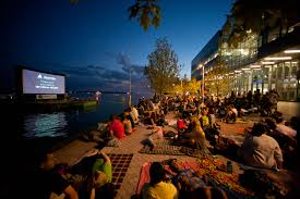 christie projectors transform toronto u0027s sugar beach into outdoor