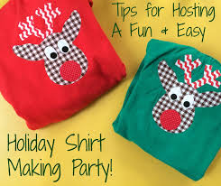 kids christmas party idea holiday shirt making party the