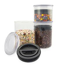 canister for kitchen airscape glass kitchen canisters for food storage