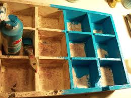 Cubby Hole Shelves by Make The Best Of Things Recycled Blue Cubby Shelves