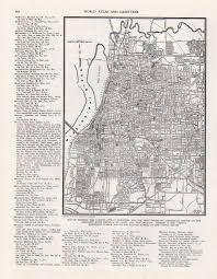 vintage map memphis tn from 1946 original u2013 beautiful old map of