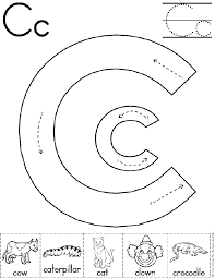 alphabet letter c worksheet preschool printable activity