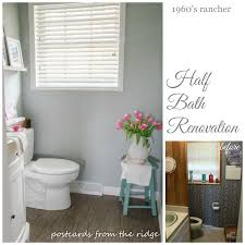 our half bathroom renovation details postcards from the ridge 1960 s rancher half bath reno an ugly duckling turned into a swan love it
