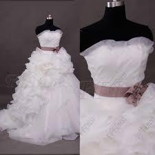 dusty wedding dress gown wedding dress with dusty sash mypromdress