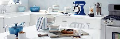 blue u0026 white kitchen style crate and barrel