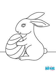 cute easter bunny coloring pages hellokids