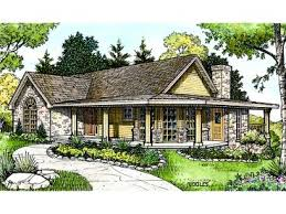 one story house plans with porches one story house plans 1 story family home plan design 008h 0020