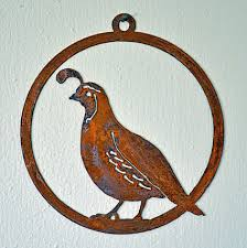 bird silhouette quail window ornament decorative