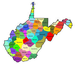 West Virginia online travel images Map of west virginia map counties online png
