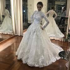 sle wedding dresses cheap wedding dresses 2017 sleeves high neck muslin bridal