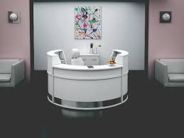White Modern Desk by Modern Contemporary Reception Desk Furniture All Contemporary Design