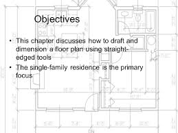 floor plans with dimensions drafting and dimensioning the architectural floor plan ppt