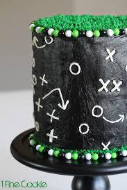 football play cake also tips for black frosting 1 fine cookie