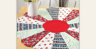 quilt pattern round and round dress up your table with an easy round topper quilting digest