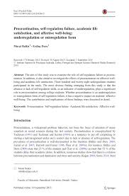 Counseling The Procrastinator In Academic Settings Pdf Procrastination Self Regulation Failure Academic