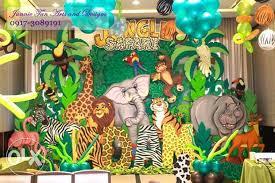 jungle backdrop jungle safari styro backdrop for rent birthday party decor for
