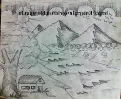 gallery draw a beautiful scenery with pencil drawing art gallery