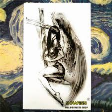 cross angel wing tattoos wing cross tattoos reviews online shopping wing cross tattoos