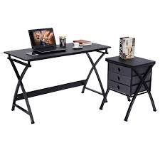 costway computer desk pc laptop writing table home office