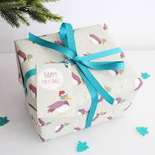 gift wrap christmas christmas duck gift wrap by the blue owl