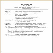 Educational Resumes Resume Template One Page Word Samples Of Resumes Throughout On