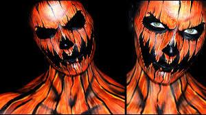 Halloween Scary Makeup Tutorial by Pumpkin Makeup Tutorial 31 Days Of Halloween Youtube