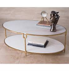 katherine hollywood regency ivory stone oval coffee table kathy