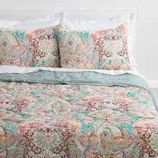 World Map Duvet Cover by Indian Damask Gianna Reversible Quilt World Market