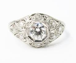 art deco platinum u0026 diamond filigree ring u2014 gray u0026 davis antique