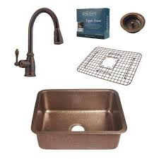 Copper Kitchen Sink Reviews by Copper Undermount Kitchen Sinks Kitchen Sinks The Home Depot