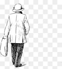 pencil sketch lonely old man u0027s back pencil sketch the figure of