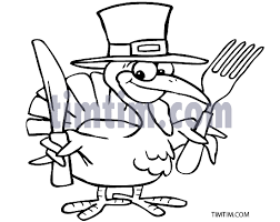 free drawing of thanksgiving turkey bw from the category