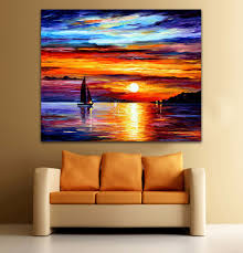 Sailboat Home Decor Compare Prices On Knife Paintings Sailboats Online Shopping Buy