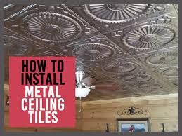 Installing Ceiling Tiles by How To Install Metal Ceiling Tiles