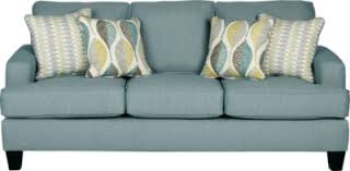 Rooms To Go Sleeper Loveseat Cypress Gardens Blue Sofa Sofas Blue
