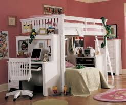 Childrens Bunk Bed With Desk Size Bunk Bed With Desk Ikea Loft Bedroom Oakwoodqh