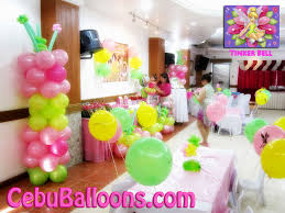 balloon decoration tinkerbell party decorating of party