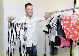 adam levine celebrates launch of new women u0027s summer collection for