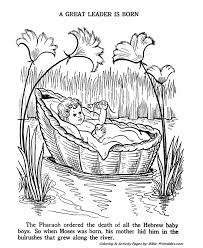 Baby Moses Old Testament Coloring Pages Bible Printables Bible Coloring Pages Moses