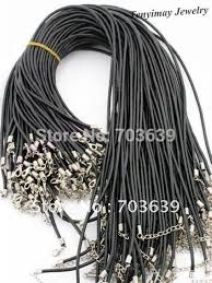 cord necklace clasp images Wholesale 100pcs lot rubber necklace cords free shipping fashion jpg