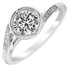 Timeless Designs Timeless Designs Ring Bezel Setting In 14kt White Gold 1