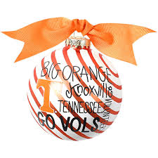 tennessee volunteers striped word collage ornament tennessee