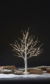 pre lit led decorative silver birch tree clifford james