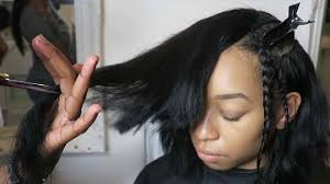install a deep side part sew in graduated full